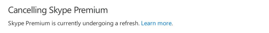 Cancelling Skype FAQ